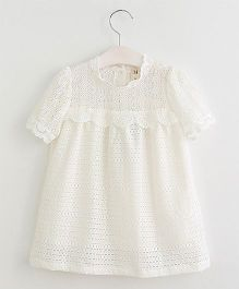 Lil Mantra Lace Tunic - White