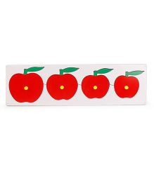 Alpaks Apple Seriation Wooden Board - Red