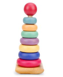 Alpaks Wooden Ring Tower - Multi Color