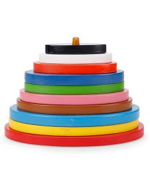 Alpaks Graded Oval Wooden Tower - Multi Color