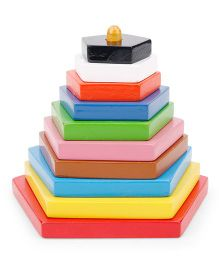 Alpaks Graded Pentagon Wooden Tower - Multi Color