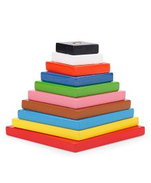 Alpaks Graded Diamond Wooden Tower - Multi Color