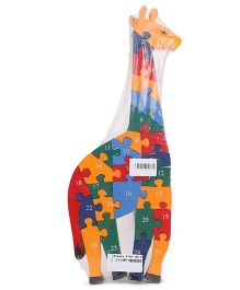 Alpaks Giraffe Jigsaw Puzzle With Alphabets & Numbers - Multi Color