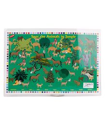Alpaks Table Mat 2 Sided Print - White Green