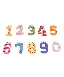 Alpaks Magnetic Wooden Numbers - 10 Pieces