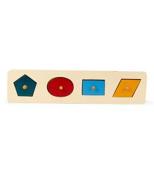 Alpaks 4 Shapes Pegs And Knob Puzzle - Multicolor