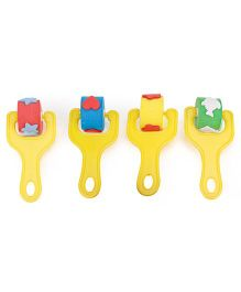Alpaks Roller Stamps Set Pack Of 4 (Color And Design May Vary)