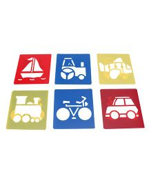 Alpaks Washable Templates Pack Of 6 (Design & Color May Vary)