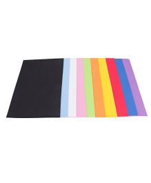 Eva Art & Craft Sheets Set of 10 - Multi Color