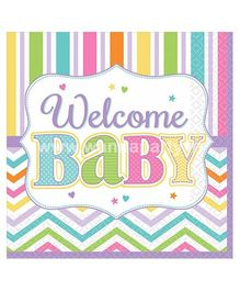 Wanna Party Welcome Baby Shower Dessert Napkins - 18 Pieces