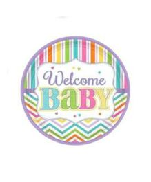 Wanna Party Welcome Baby Shower Dessert Plates - 9 Pieces