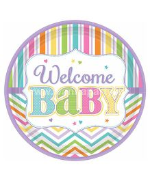 Wanna Party Welcome Baby Shower Lunch Plates - 9 Pieces