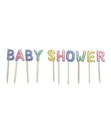 Wanna Party Baby Shower Glitter Pick Candle Pack - Multicolor