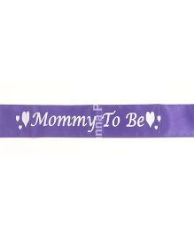 Wanna Party Mommy To Be Sash - Purple