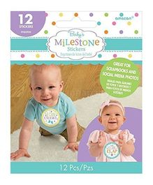 Wanna Party Baby Milestones Stickers - 12 Pieces