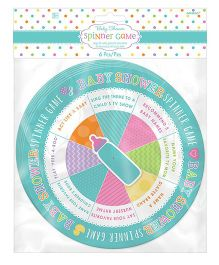 Wanna Party Baby Shower Spinner Game - Aqua
