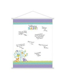 Wanna Party Welcome Baby Sign In Sheet - Purple