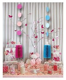 Wanna Party Honeycomb Bottle Hanging 3 Pieces - Blue