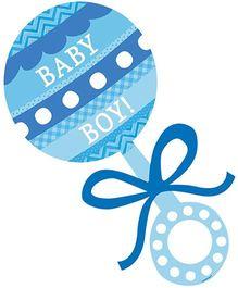 Wanna Party Baby Boy Rattle Cutout - Blue