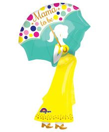 Mama To Be SuperShape Balloon  - Multicolor