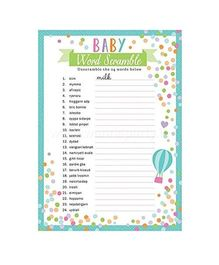 Wanna Party Baby Shower Word Game - 24 Pieces