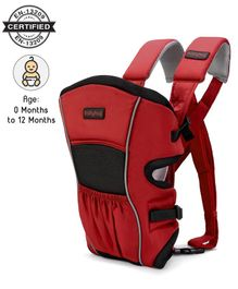 Babyhug Embrace 2 in 1 Baby Carrier - Red