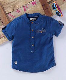 Tonyboy Turn Up Sleeve Shirt - Blue