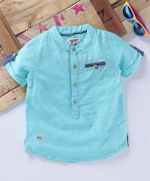 Tonyboy Turn Up Sleeve Shirt - Sky Blue
