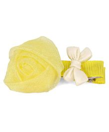 Flaunt Chic Rose Clip - Yellow