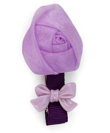 Flaunt Chic Rose Clip - Purple