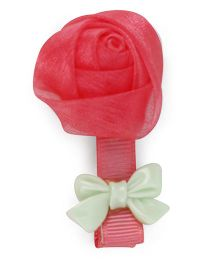 Flaunt Chic Rose Clip - Red