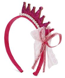 Flaunt Chic Non-teethed Resin Headband With Satin Cover - Fuchsia