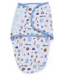 Summer Infant Original Swaddle Little Champ Print - Blue
