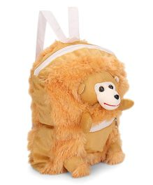 IR Monkey Soft Toy School Bag Brown - 11 Inches