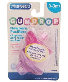 The First Years Gumdrop Soother Pack Of 2 - Pink