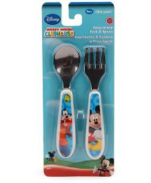The First Years Mickey Mouse Fork & Spoon - Blue
