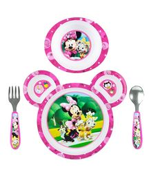 The First Years Minnie 4 Piece Feeding Set - Pink White