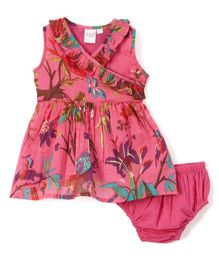Yo Baby Floral Dress With Bloomer - Pink