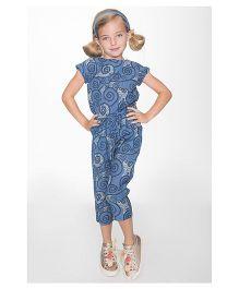 Yo Baby Swirl Jumpsuit - Blue