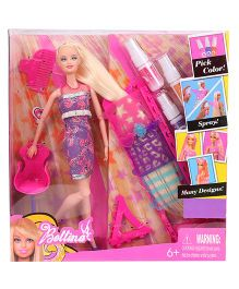 Tickles Hairtastic Color And Design Salon Barbie Doll Multicolor - 28.5 cm