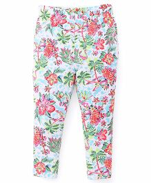 ToffyHouse Full Length Leggings Tropical Print - Multicolor
