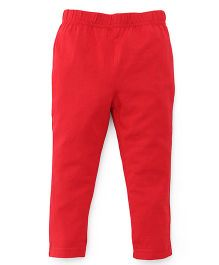 ToffyHouse Plain Leggings  - Red