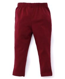 ToffyHouse Plain Leggings  - Dark Maroon