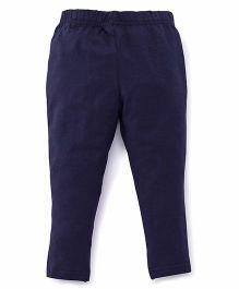 ToffyHouse Plain Leggings  - Navy Blue