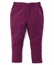 ToffyHouse Plain Leggings  - Dark Purple
