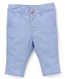 Button Noses Three Fourth Pants - Blue