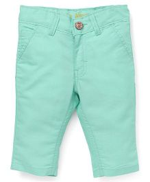Button Noses Three Fourth Pants - Green
