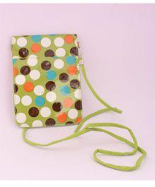 Pihoo Sling Bag Polka Dots Print - Green