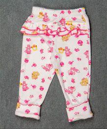 Pikaboo Full Length Leggings Animal Print - White Pink