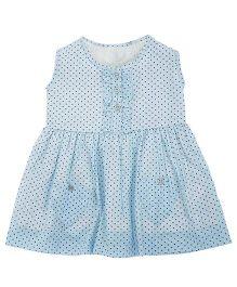 Sequences Heart Printed Dress - Light Blue